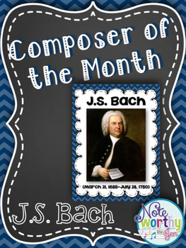 JS Bach Composer of the Month Bulletin Board {Video Links}