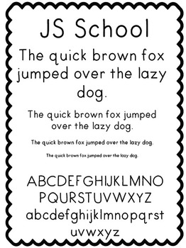 JS School - Font (Personal and Commercial Use)