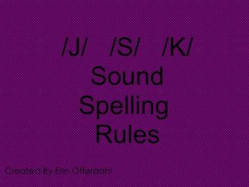 J,S,K Spelling Rules