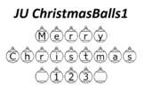 JU ChristmasBalls, Christmas Fonts