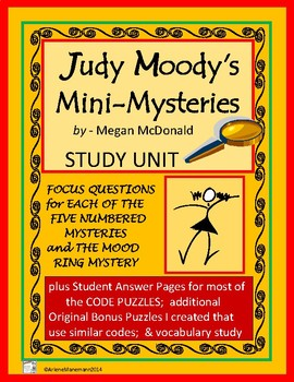 JUDY MOODY Mini-Mysteries by Megan McDonald - Questions, Solution Logs, and more