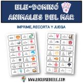 JUEGO DOMINÓ LOS ANIMALES DEL MAR