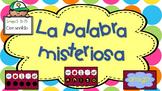 "JUEGO: La Palabra Misteriosa ""Grupo 3"" (51-75) / Sight words GAME in SPANISH"