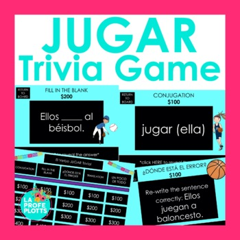 JUGAR Jeopardy-Style Trivia Game