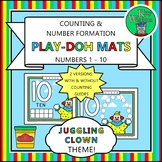 JUGGLING CLOWN Counting & Number Formation Play-Doh Mats -