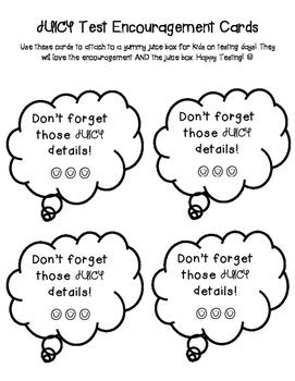 JUICY Test Encouragement Cards