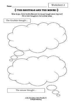 JULIA DONALDSON BOOK BUNDLE #1 - Worksheets - Picture Book Literacy
