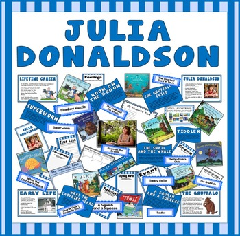 JULIA DONALDSON TEACHING RESOURCES AND DISPLAY EFS AND KS1 AUTHOR GRUFFALO ETC