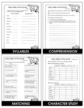 JULIUS, BABY OF THE WORLD - STUDY GUIDE Gr. 2-4