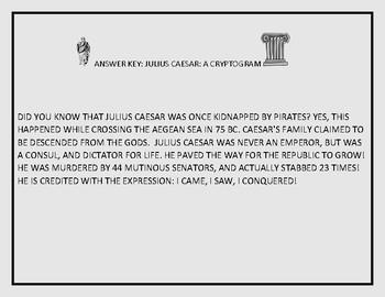 JULIUS CAESAR- A CRYPTOGRAM