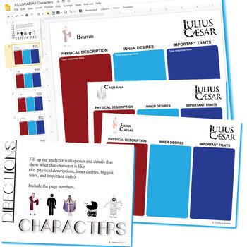 JULIUS CAESAR Characters Organizer (Created for Digital)
