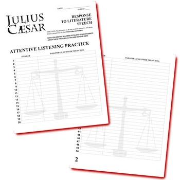 JULIUS CAESAR Essay Prompts & Grading Rubrics