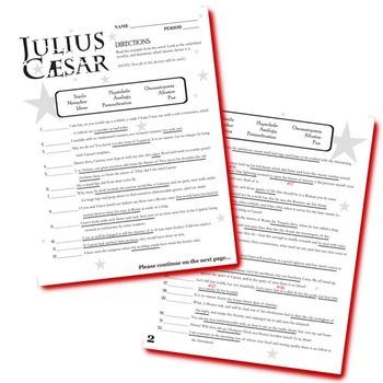 JULIUS CAESAR Figurative Language Bundle