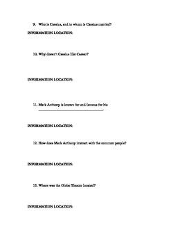 JULIUS CAESAR PRE-READING GUIDE/ACT I SCENES i & ii ACTIVE READING/DISCUSSION