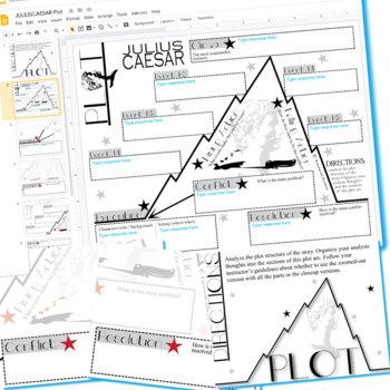 JULIUS CAESAR Plot Chart Organizer Arc - Freytag (Created for Digital)