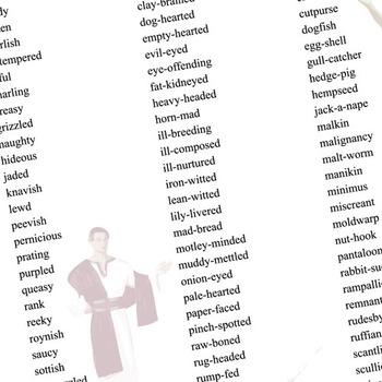 JULIUS CAESAR Shakespearean Insults