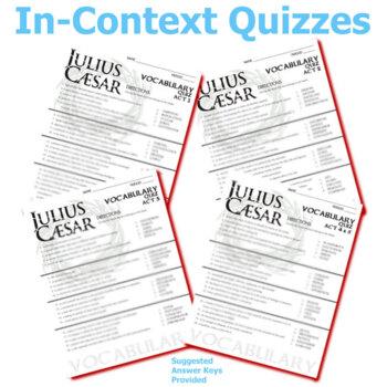 JULIUS CAESAR Vocabulary Complete Play (80 words)