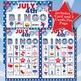 JULY 4th 5x5  BINGO