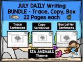 JULY - Daily Writing Bundle - THREE levels!!!