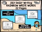 JULY - Daily Writing - RAINBOW WRITE Words