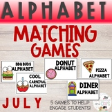 JULY Monthly Alphabet Letter Recognition Games