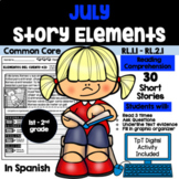 JULY READING COMPREHENSION: STORY ELEMENTS IN SPANISH