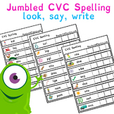 JUMBLED CVC Spelling with pictures | Phonics Resources