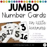 JUMBO Number Cards 0-30 Number ID Fluency *FREEBIE*