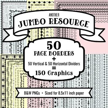 JUMBO Seller's Resource: 150 Borders & Dividers, No Attribution Req'd