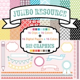 JUMBO Seller's Resource: 512 Clip Art & Digital Papers, No