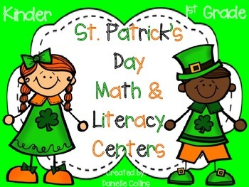 JUMBO St. Patrick's Day Math & ELA pack (45 CCSS Centers)