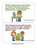 1st Grade JUMBO set Story Problem Cards - 1st gr. problem