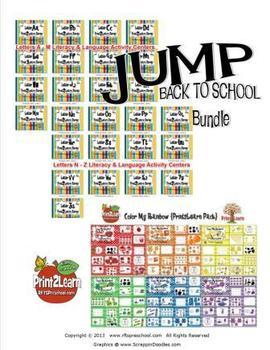 BACK TO SCHOOL PreK Kindergarten Bundle