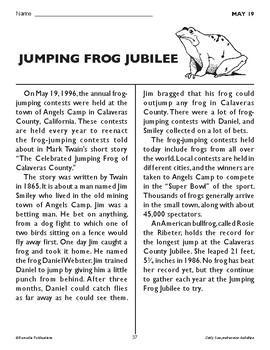 JUMPING FROG JUBILEE (MAY 19)
