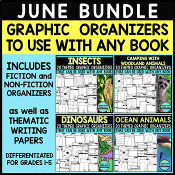 JUNE BUNDLE  Graphic Organizers for Reading  Reading Graph