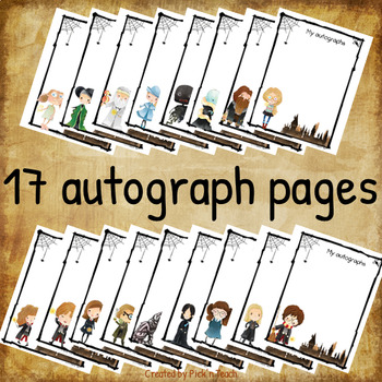 Autograph books for Harry Potter fans