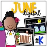 JUNE DIGITAL DAILY MATH for KINDERGARTEN (Interactive PowerPoint)