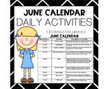 JUNE Fine Motor/Visual Motor (Daily Activities)