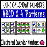 June Illustrated Calendar Numbers