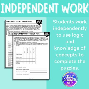 JUNE Logic Puzzles for Listening Comprehension for SLPs
