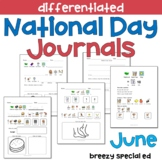 JUNE National Days Differentiated Journals for special education
