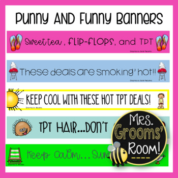 JUNE'S PUNNY AND FUNNY TPT BANNERS
