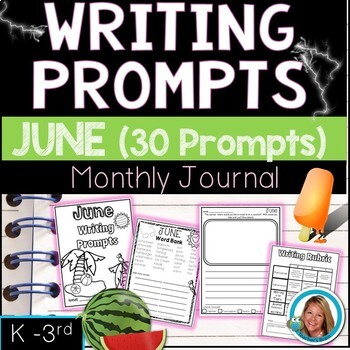 JUNE Writing Prompts Journal K-3