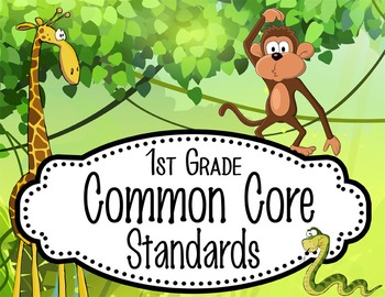 "JUNGLE - 1st Grade Common Core Standards ""I CAN"" format / posters"