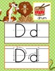 JUNGLE - Alphabet Cards, Handwriting, ABC Flash Cards, ABC print with pictures