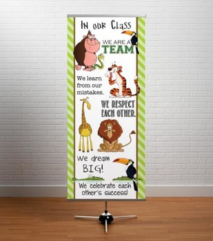JUNGLE - Classroom Decor: LARGE BANNER, In Our Class