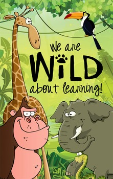 JUNGLE - Classroom Decor: MEDIUM BANNER, WILD about Learning