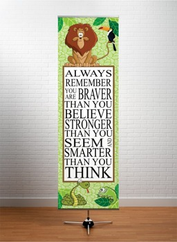 JUNGLE - Classroom Decor: X-LARGE BANNER, Always Remember