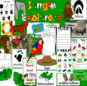 JUNGLE EXPLORERS role play- dramatic play, animals