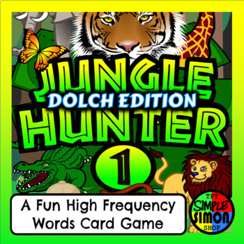 JUNGLE HUNTER (Dolch Pre-Kinder) - A Fun High Frequency Sight Word Card Game
